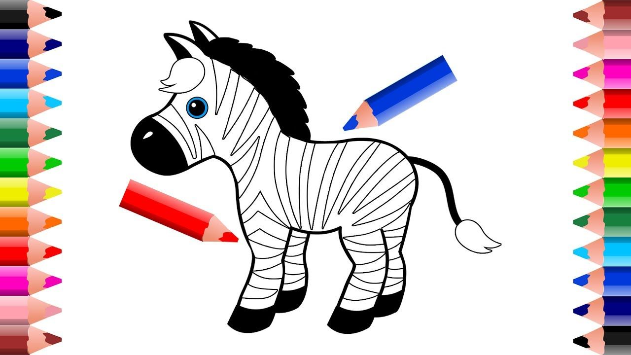 How to draw and color a rainbow zebra Drawings for Kids