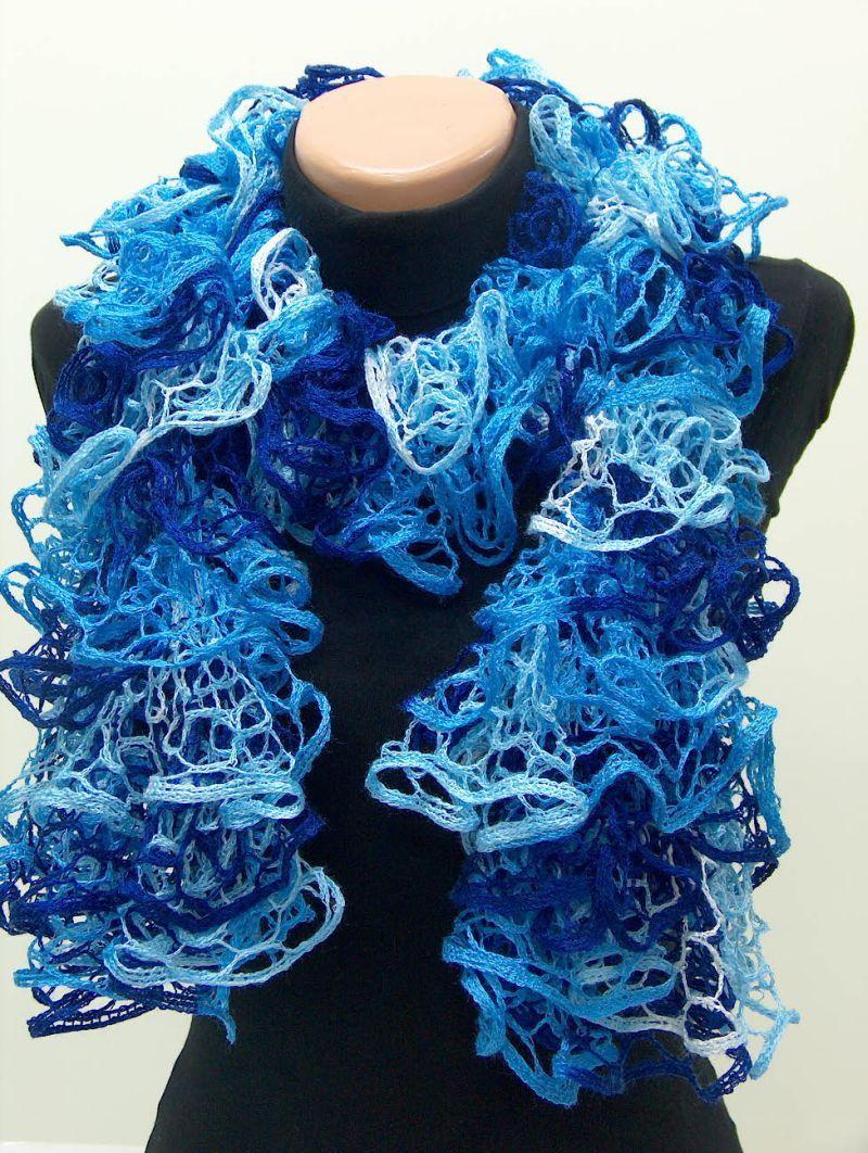 Lacy Ruffle Knit Scarf i crocheted with same yarn | Crochet ...