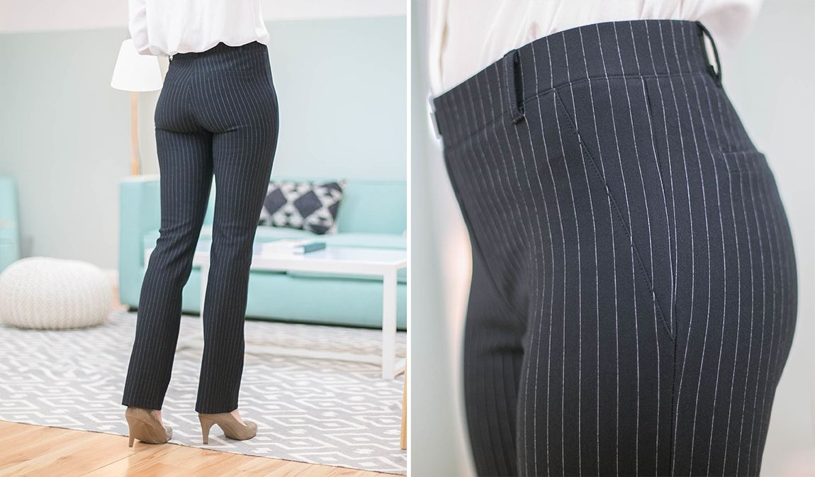 Straight Leg Classic Dress Pant Yoga Pants Black Pinstripe Pinstripe Dress Pants Dress Yoga Pants Pinstripe Dress