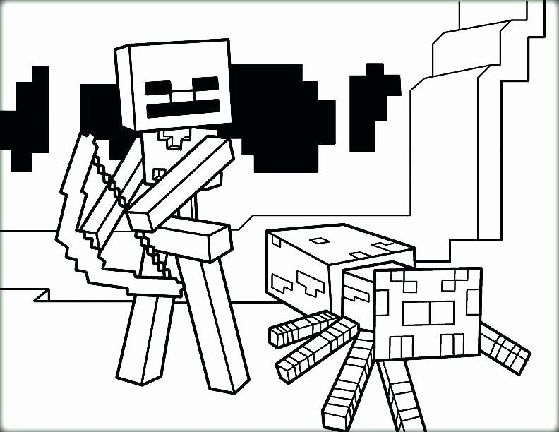 32 Minecraft Skeleton Coloring Page in 2020 | Minecraft ...