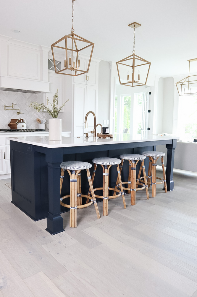 The BEST Sherwin Williams Navy to Paint Your Kitchen Island!!