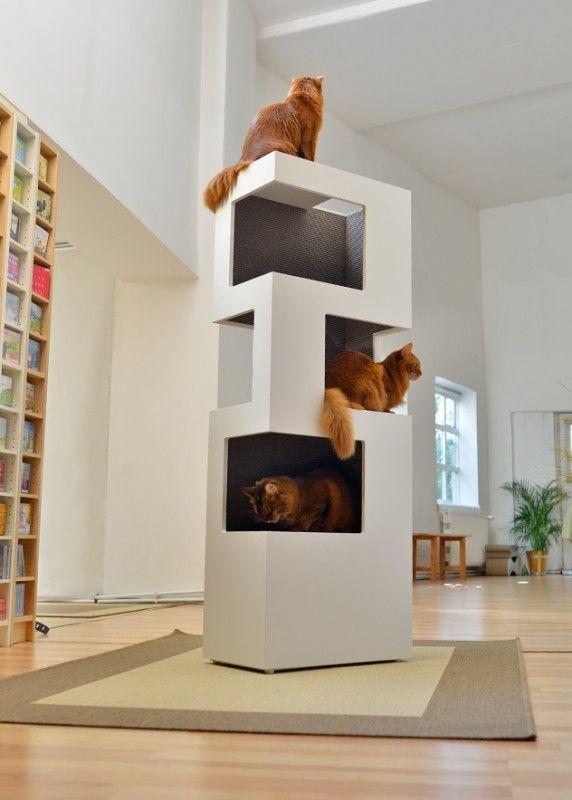un arbre chat au design contemporain qui offre votre. Black Bedroom Furniture Sets. Home Design Ideas