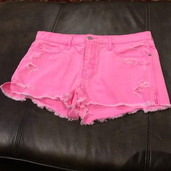 Like new hot pink Abercrombie & Fitch Jean shorts Like new ! Abercrombie & Fitch Shorts