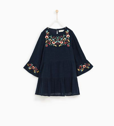 Image 2 Of Floral Embroidered Dress From Zara Vetements Filles Vetements