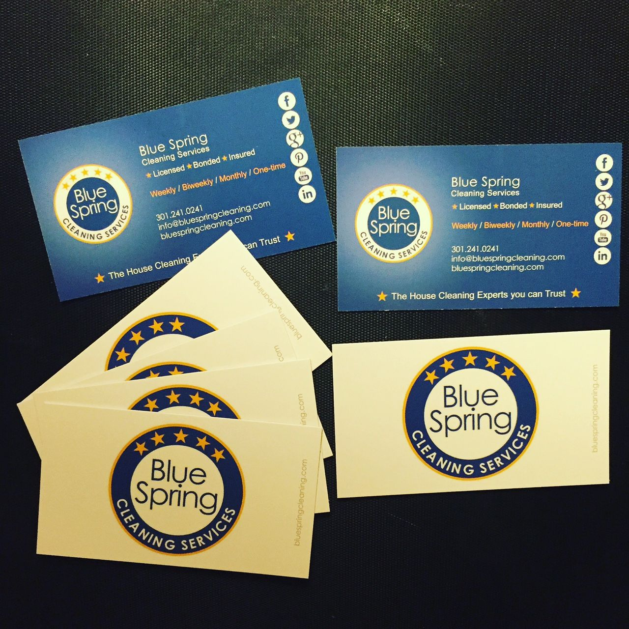 Just received our brand new and freshly designed business cards ...