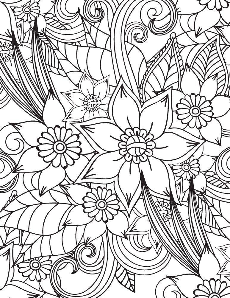 Imprimer Des Coloriages Tres Difficile Motif Fleurs Fusing