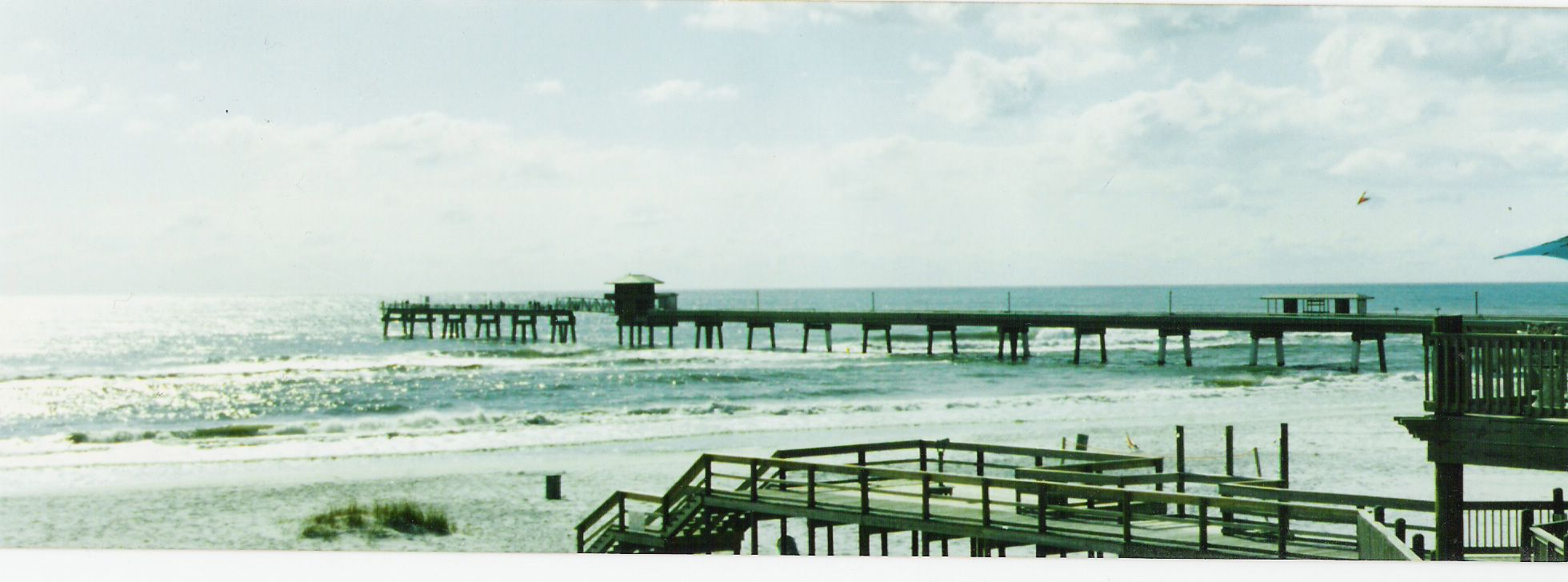 an old panoramic from film of the hurricane destroyed Okaloosa ...
