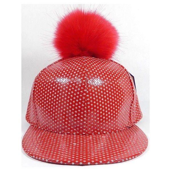Wholesale Shiny Flatbill Blank Snapback Cap - Faux Fur Pom Pom Hat ... ff8b83e8774a