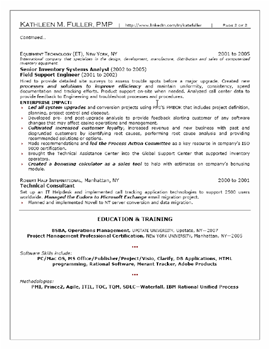 Professional Mid Level Resume Sample  Page   Professional