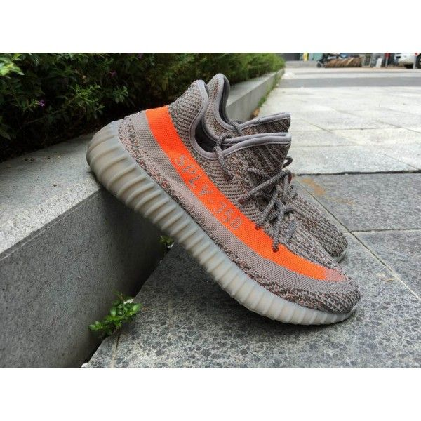 Adidas Mens Yeezy Boost 350 V2 SPLY Beluga Steel Grey/Beluga/Solar Red  BB1826