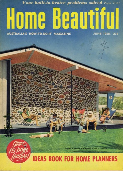 1958 Home Beautiful Magazine Australia Via MCM Pinterest