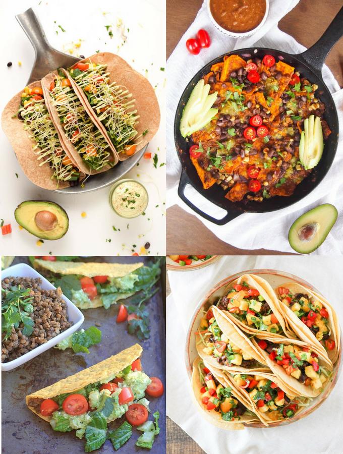 Vegetarian Mexican Recipes plantbased tacos, salad