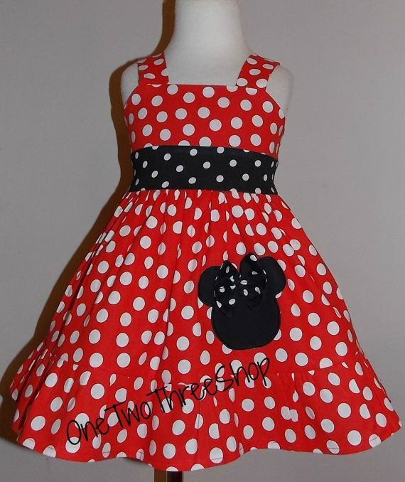 Minnie mouse Dress Custom Boutique Clothing  Red  Sassy by amacim