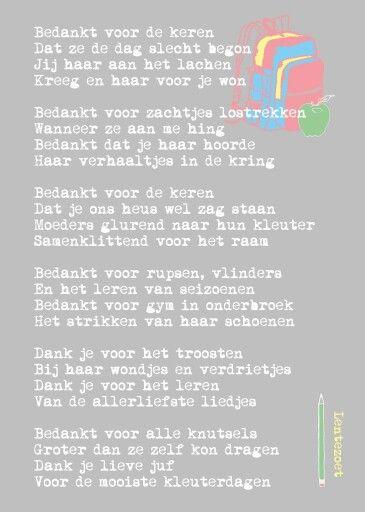 Magnifiek Favoriete Gedichten Juf Bedankt PDM-25   Wofosogo @UZ18