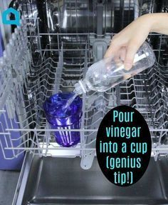 Every homeowner should see this clever tip for their dishwasher. #cleaningtips #appliances #homecleaning