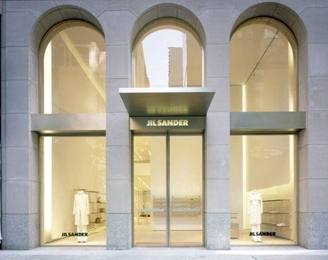 great shopwindows by gabellini sheppard for jil sander architecture pinterest retail. Black Bedroom Furniture Sets. Home Design Ideas