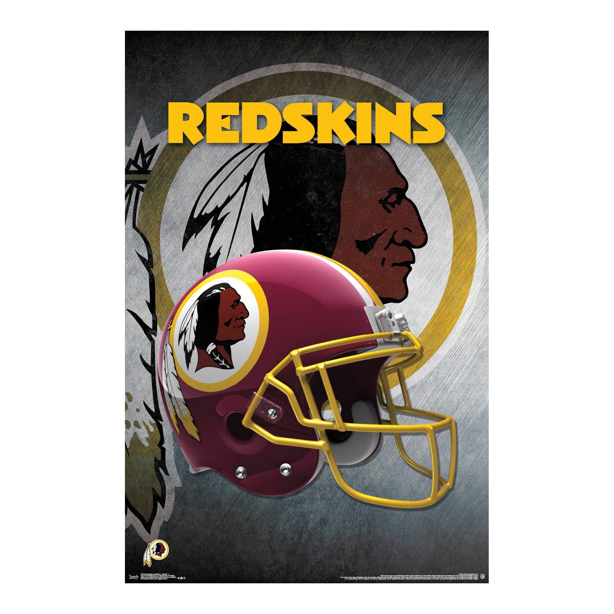 Washington Redskins Helmet Unframed Wall Poster Sports