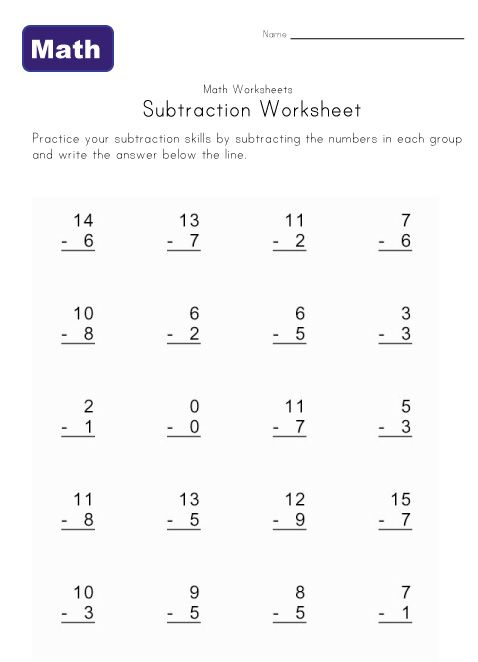 math worksheet : 1000 images about math worksheet on pinterest  subtraction  : Math Worksheets Subtraction