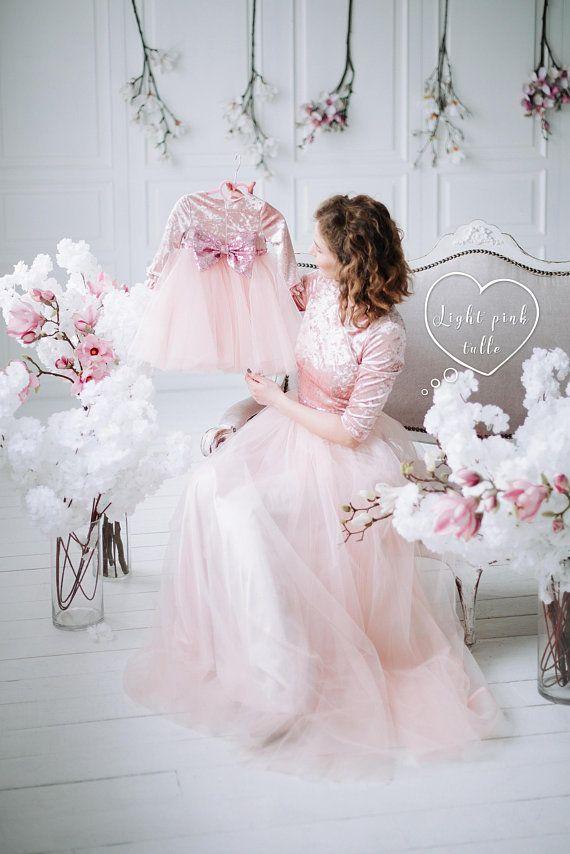 2c18ce8a5d1b Mother daughter matching dress Pink mother daughter dress Tutu lace ...