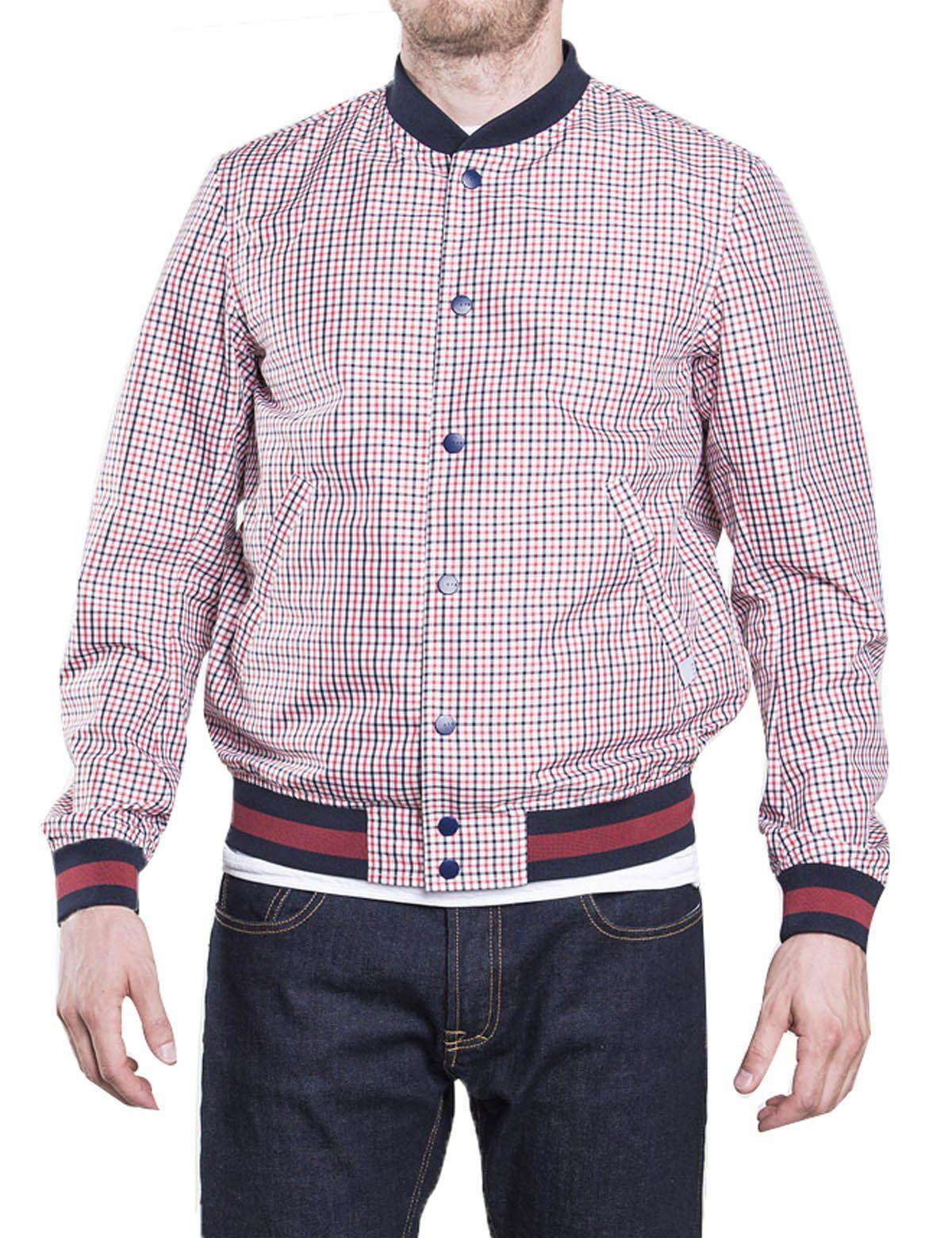 quality best wholesaler really comfortable Men Golf Clothing - CIVICO 76 Mens Varsity Bomber Jacket Plaid ...
