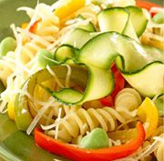 Easy Pasta Primavera - 1. Cook the pasta in boiling water until tender, but firm to the bite. In the meantime, simmer the vegetables