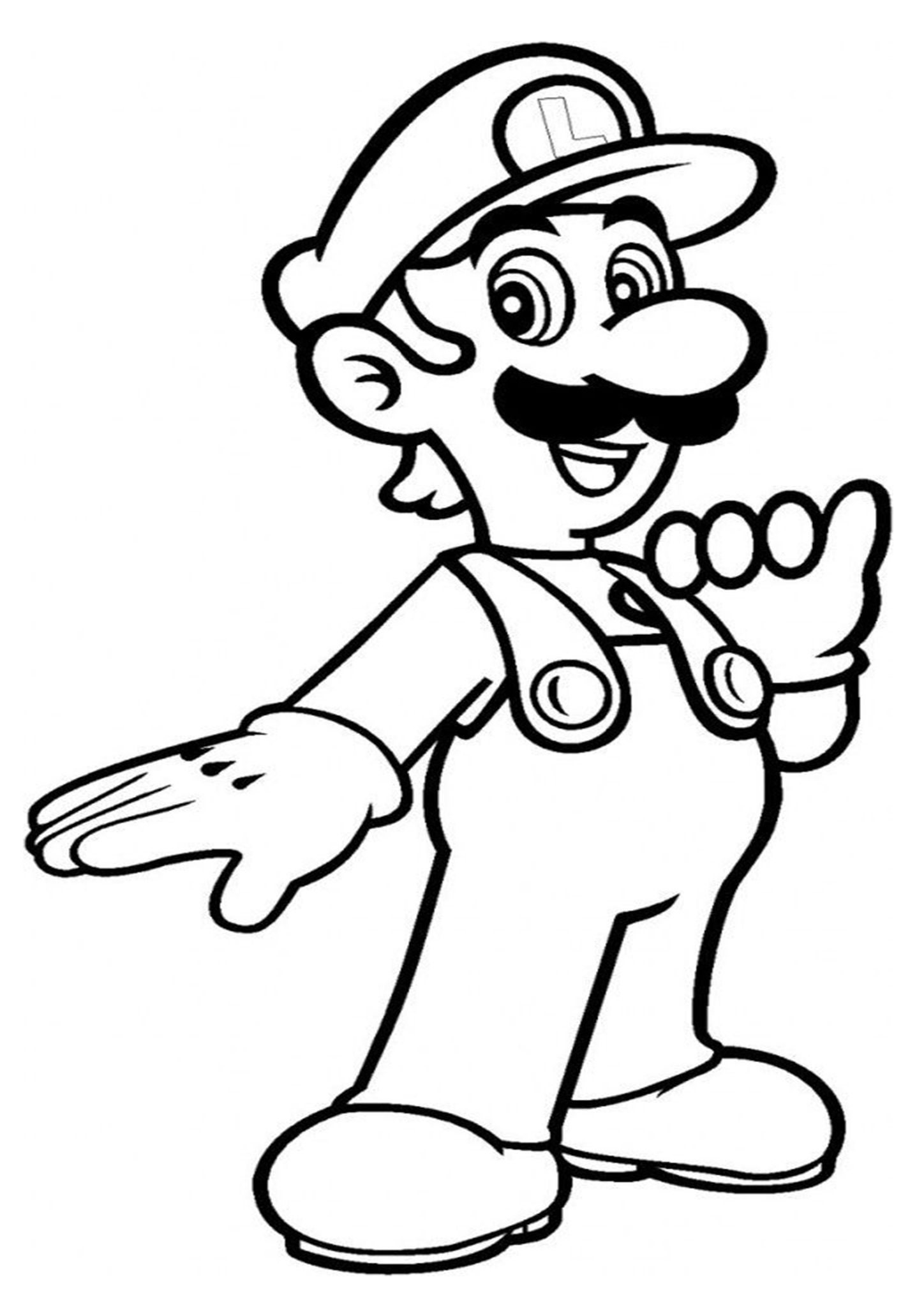 Free Amp Easy To Print Mario Coloring Page In