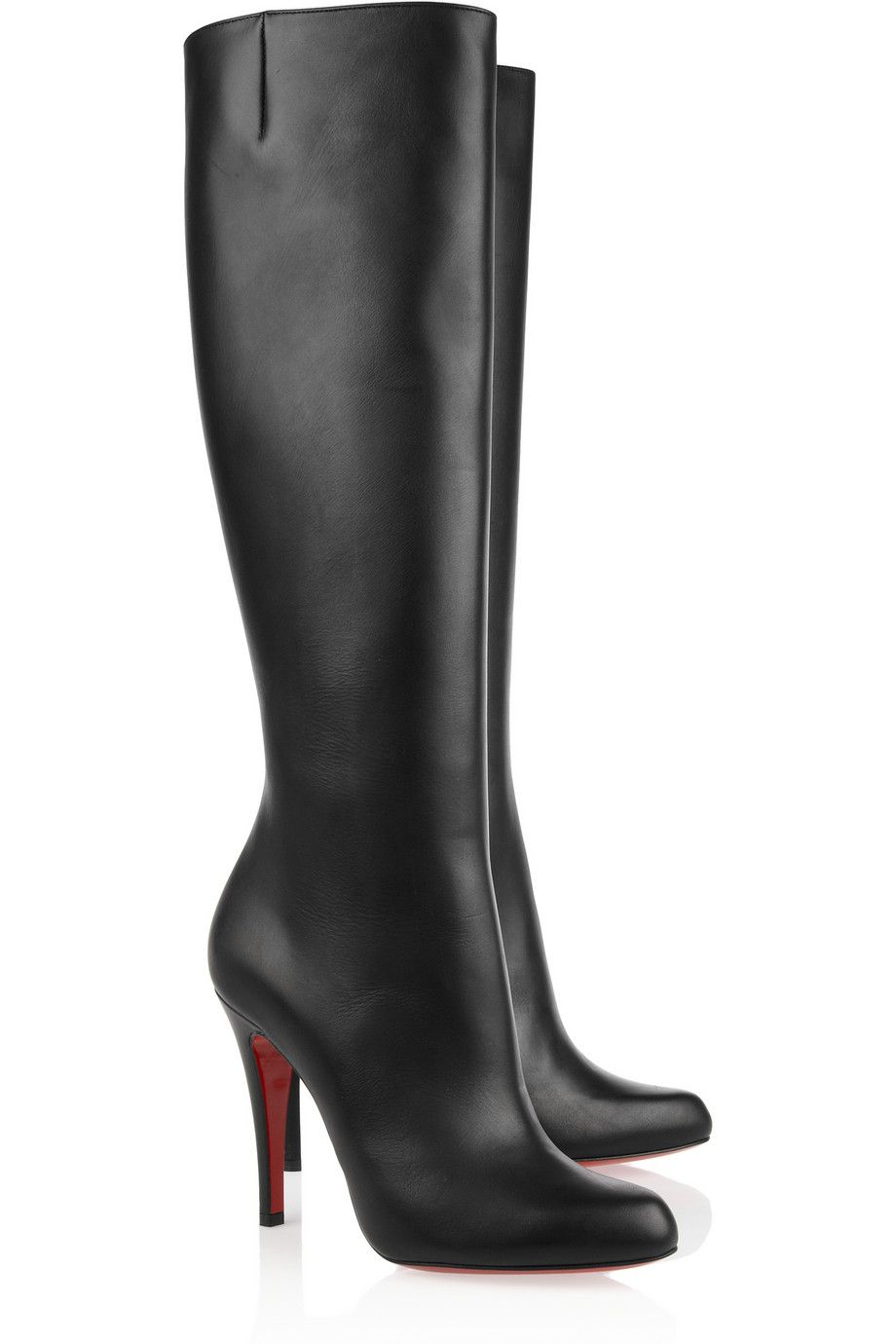 buy popular 40ef0 3f58c Christian Louboutin | Bourge 100 leather knee boots | NET-A ...