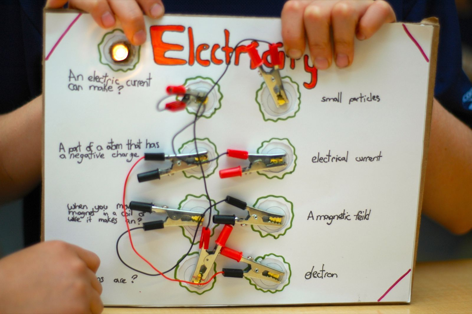 Grade 5 Students Used Their Newly Acquired Knowledge Of Electricity Electrical Wiring Games And Circuits To Create Circuit Game Boards Connect Question
