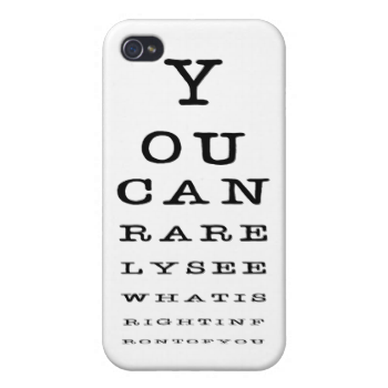 Funny Eye Chart Test Novelty Iphone Case Chart And Eye