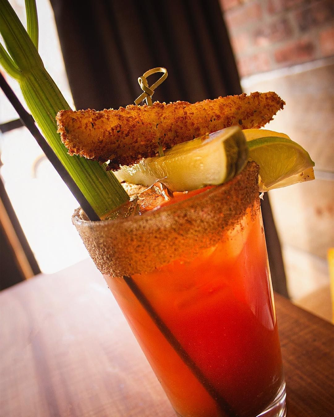 We love garnishes on our caesars like Kanye loves Kanye   In a Pickle - traditional caesar with fried pickle raw kosher pickle pickle infused vodka