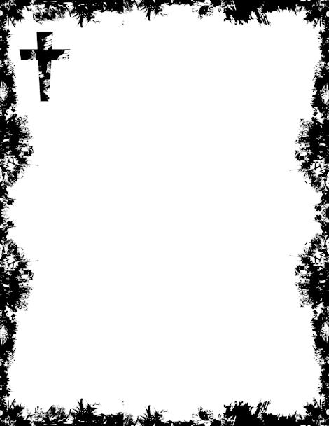 Printable cross border. Free GIF, JPG, PDF, and PNG