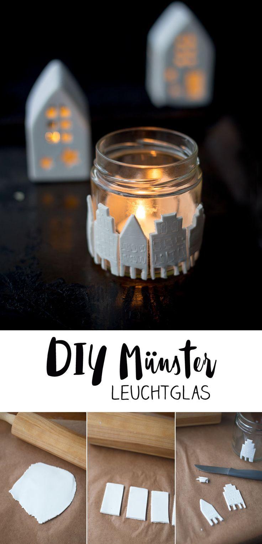DIY Prinzipalmarkt Leuchtglas - Münster Deko zum Mitnehmen - Lichtglas #lights