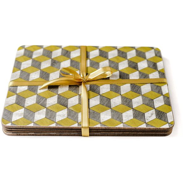 Pin By Silvena Bayrakova On My Polyvore Finds Grey Placemats Yellow Placemats Placemats