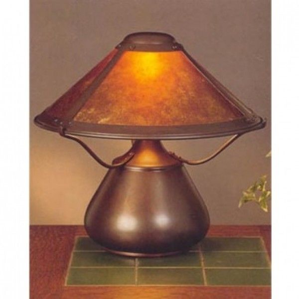 Mica Lamp Shade Custom Mica Lamp Company 007 Beanpot Table Lamp  Woodstock House Ideas Decorating Design