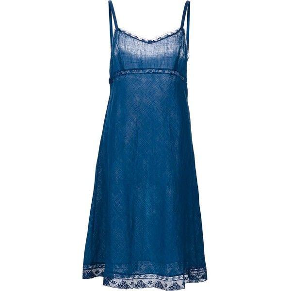 3e5c44a1579e Dosa 'Kymber' Slip Dress ($330) ❤ liked on Polyvore featuring dresses, dosa  dress, blue dress, dosa, organic cotton dresses and blue slip dress