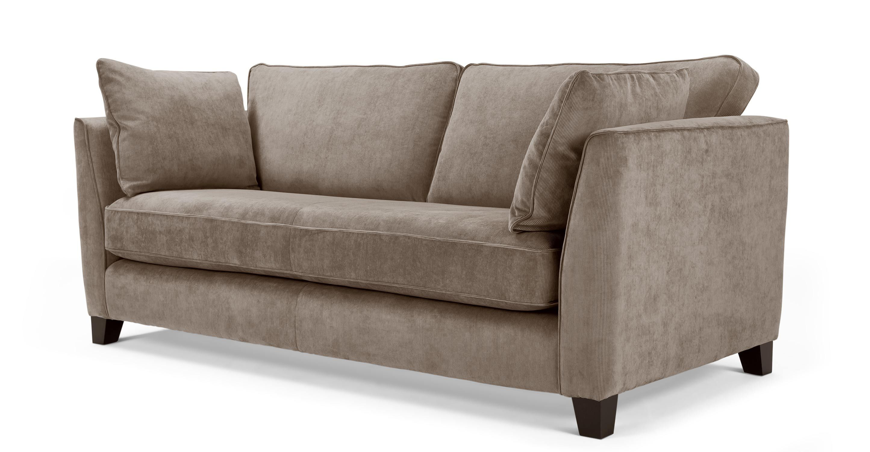 Corduroy 3 Seater Sofa Wolseley 3 Seater Sofa In Mushroom Brown Corduroy Made