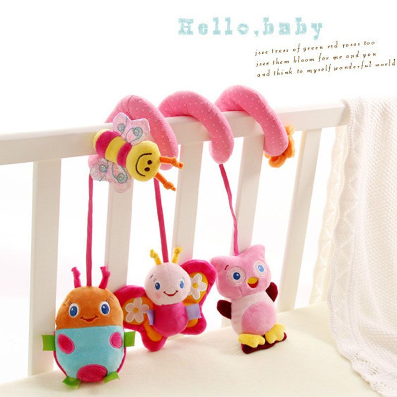 Baby Newborn Infant Kids Bed Around Hanging Revolves Musical Bell Plush Toy Gift