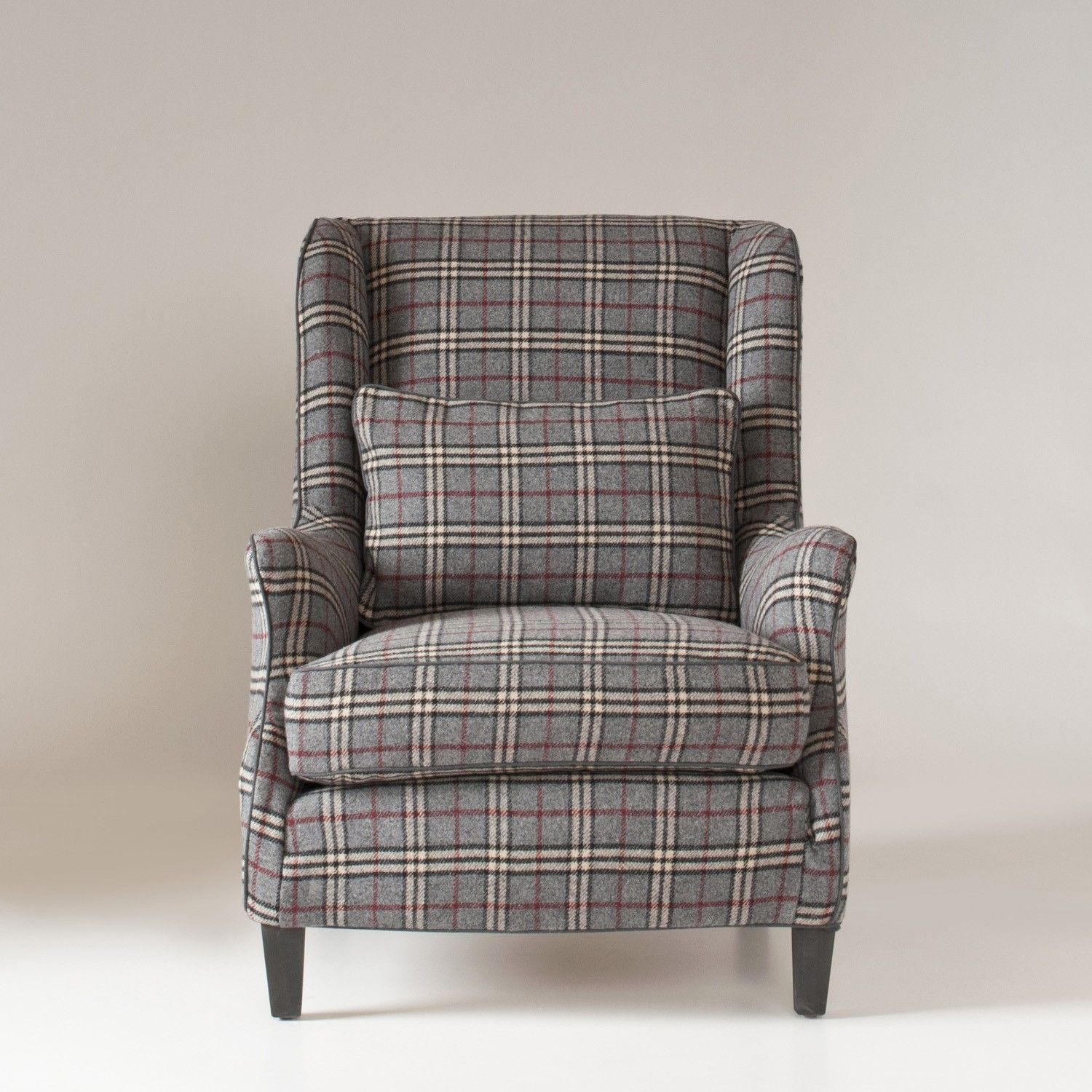 Stephenson Chair Slipcover Library Plaid Wool Schoolhouse