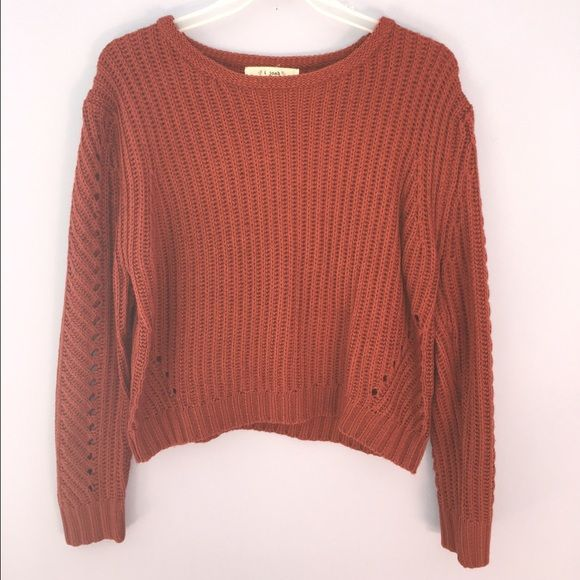Auburn Cropped Sweater auburn cropped sweater. cozy but not too thick. comfy and warm. tags removed but never worn or washed. purchased from Tobi online. *OPEN TO NEGOTIATIONS, no trades* Tobi Sweaters Crew & Scoop Necks