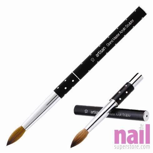Artisan Acrylic Nail Brush Grandmaster Kolinsky Series Size 10 Each Nail Brushes Acrylic Nail Brush Bright Summer Acrylic Nails