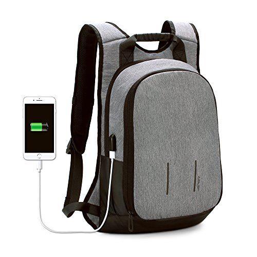 9321c1638d7e JSVER 15 Inch Laptop Backpack Business Travel School Bag with USB Charging  Port for MacBook Pro