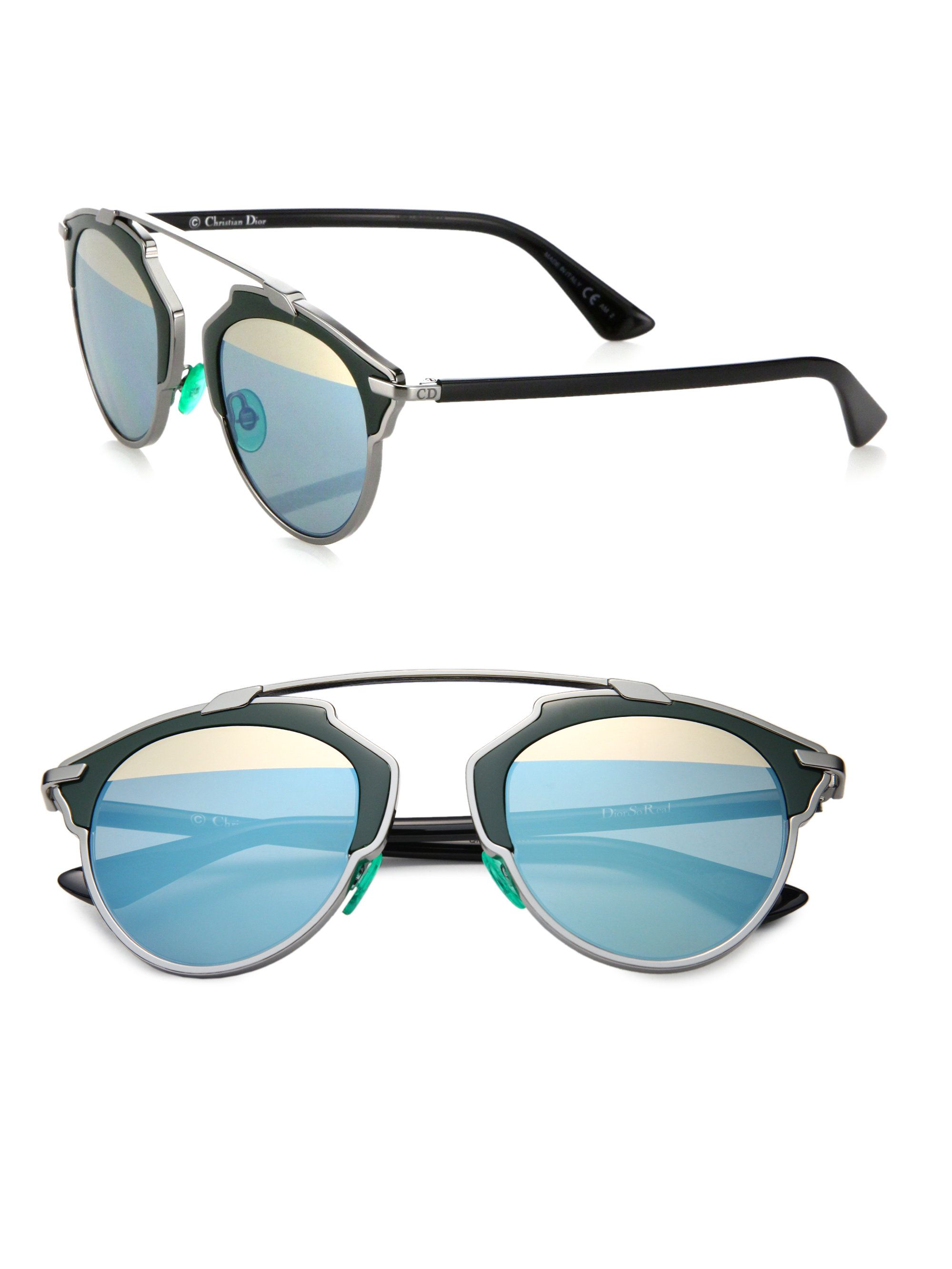 ff568cec7dd Dior So Real 48Mm Pantos Sunglasses in Green (green-blue)
