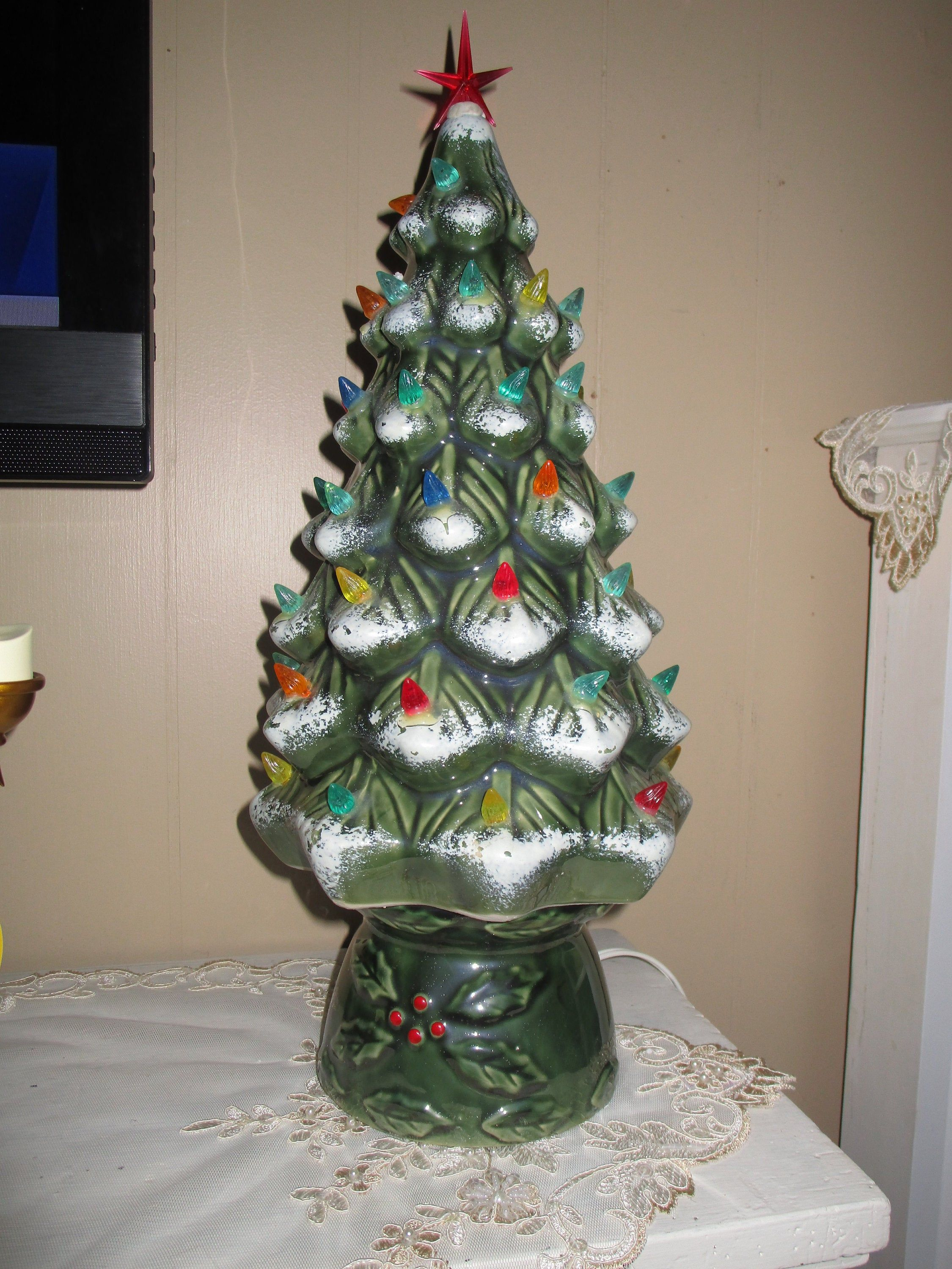 Vintage Ceramic Lighted Christmas Tree, Eclectic Christmas ...