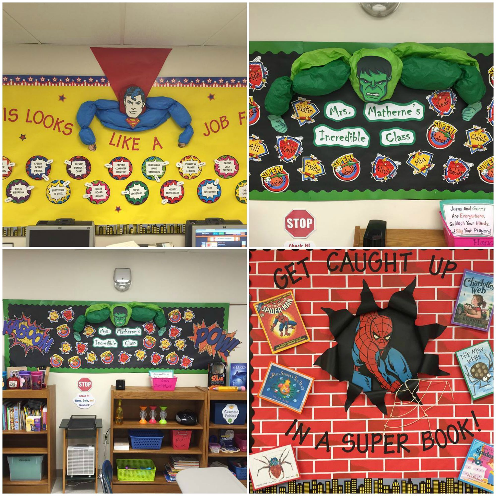 Classroom Decorations Bulletin Board Set ~ Visit the post for more super hero theme pinterest