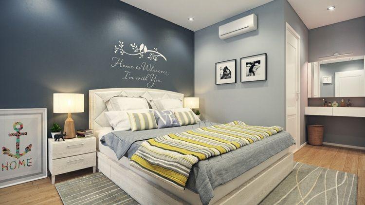 Schlafzimmer blau ~ Attraktive wandgestaltung schlafzimmer holz wand decke