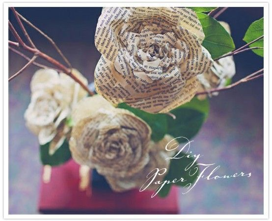 Craft cute newspaper newspaper flowers paper flowers words and flower mightylinksfo