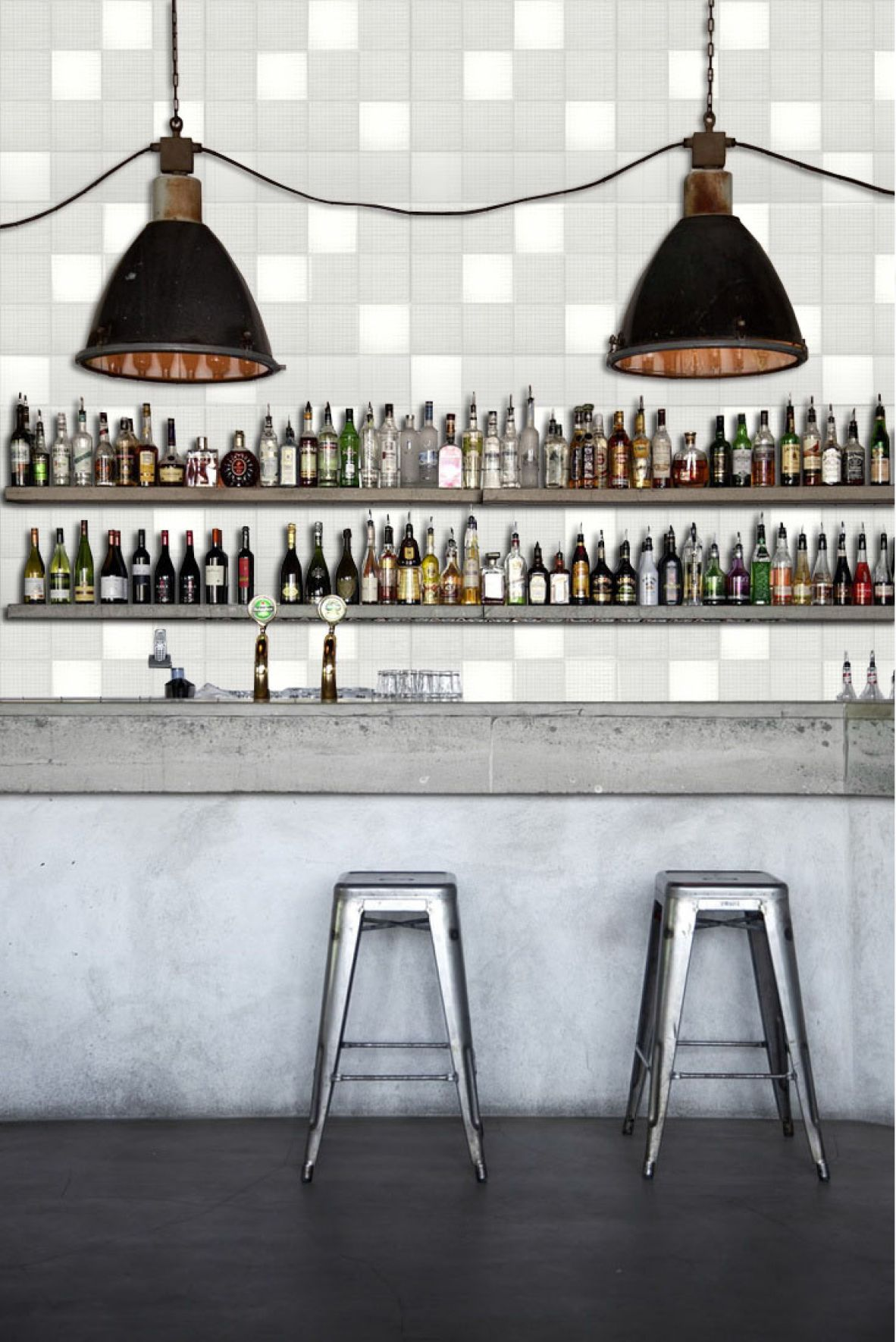 Visualisation of a bar with tex-tiles #tiles #transparant #white ...