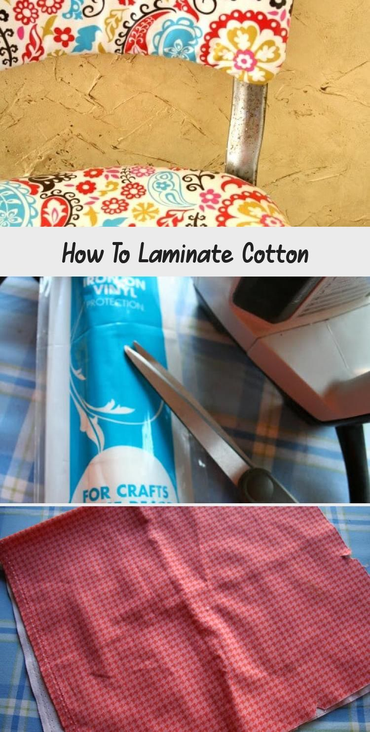 How To Laminate Cotton | Laminated cotton fabric, Sewing ...