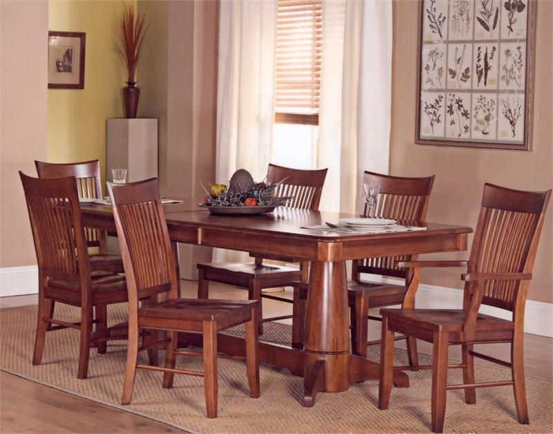 cherry mission dining table w/ chairs. blow out sale! | furniture