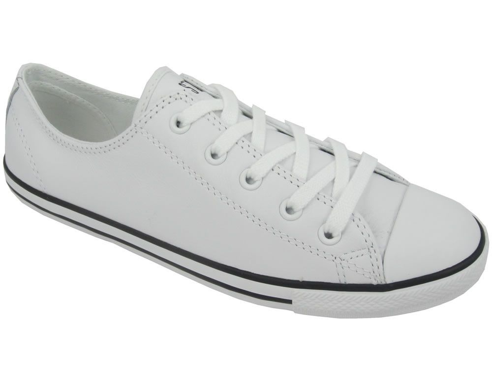 Chuck Taylor Womens All Star Dainty Ox Leather 537108 White My